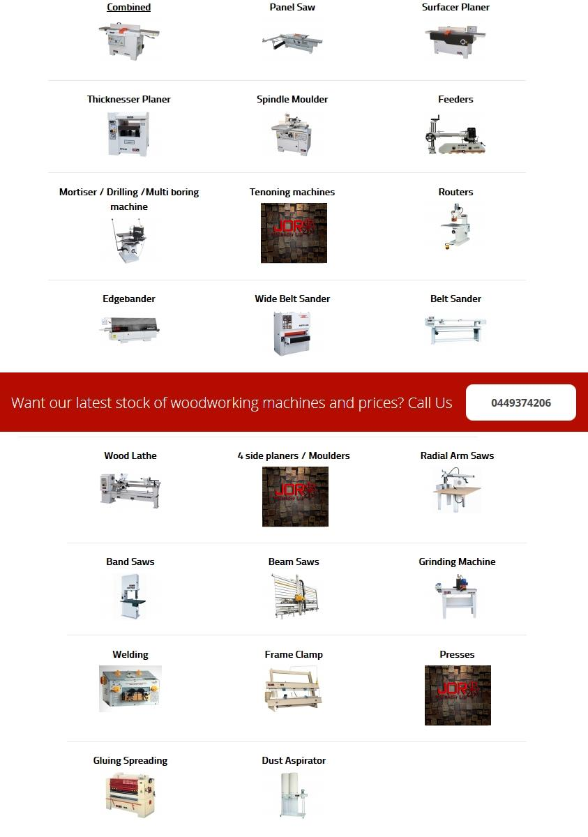 Used Woodworking Machinery